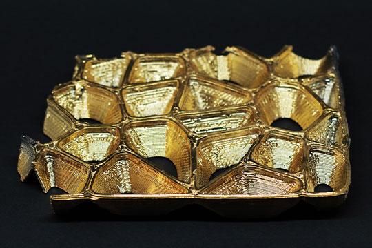 3D Druck mit 24K Goldbeschichtung