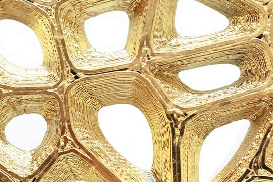 3D Druck mit 24K Gold Beschichtung