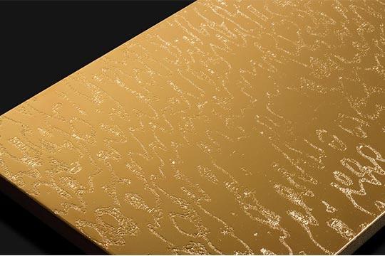 Mit Gold (24K) veredeltes Holz - SEEN AG