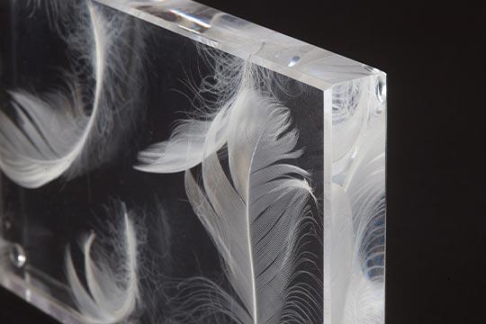 Acrylglas mit besonderen Einlagen