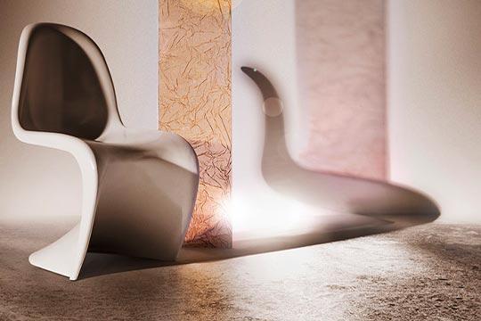 Acrylglas mit metallischen Einlagen ASOLA Salmone - SEEN AG