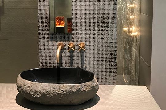Badezimmer Acrylglas