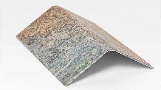 Fusion Wow Steinfurnier, laminiert auf einer dünnen Metallplatte, Oberfläche poliert
