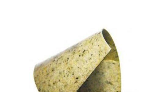 Dünnstein Giallo Veneziano, Oberfläche auf Aluminiumplatte laminiert - SEEN AG