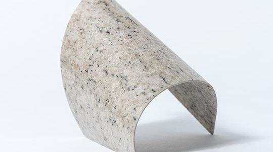 Imperial White Steinfurnier laminiert auf einer geformten Aluminiumplatte, Steinoberfläche poliert