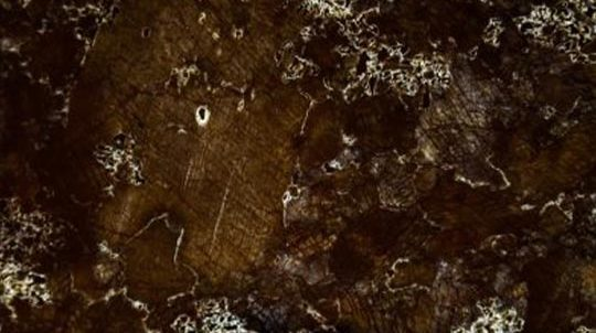 tein-Glas Laminat mit 1,0mm Brown Antique Steinfurnier laminiert auf Weissglas, Steinoberfläche poliert