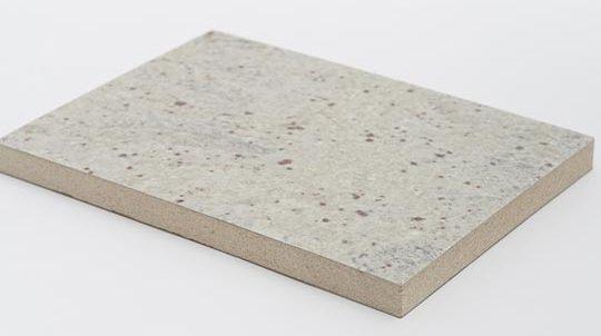 Steinfurnier auf Brandschutzplatte Vermiculit, Steinoberfläche matt geschliffen