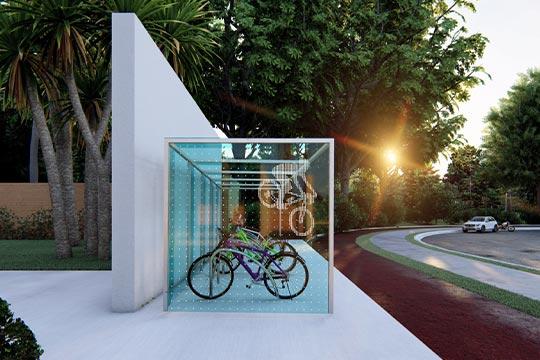 Vogelschutz und Design an Unterständen aus Glas